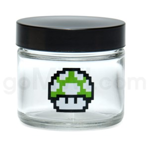 DISC Glass Jar 420 Screw Top 1/8oz-1-Up Mushroom