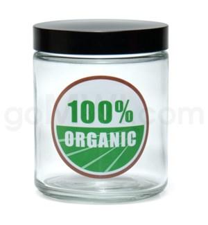DISC Glass Jar 420 Screw Top 1/4oz-100% Organic
