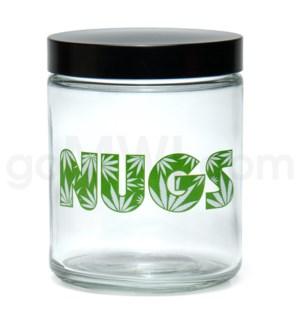 DISC Glass Jar 420 Screw Top 1/4oz-Nugs