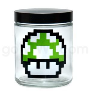 DISC Glass Jar 420 Screw Top 1/4oz-1-Up Mushroom