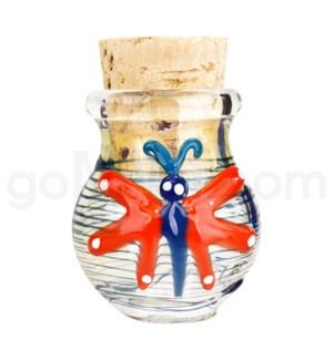 """DISC Glass Jar Pyrex 2.5"""" - Butterfly"""