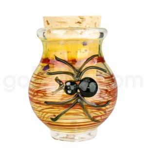 """DISC Glass Jar Pyrex 2.5"""" - Spider"""