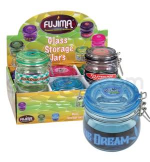 Glass Jar 150ml Glass Stash Storage Jars 6PC/BX