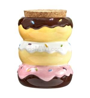 Fashioncraft 1 1/8 oz Ceramic Stash Jar - Donuts
