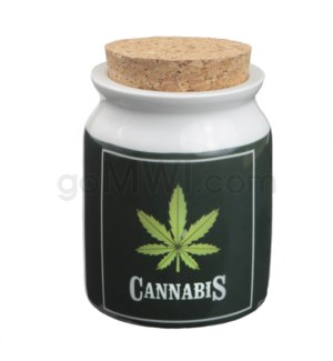 Fashioncraft 1 1/4 oz Ceramic Stash Jar - Lg Cannabis