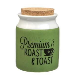 Fashioncraft 1 1/4 oz Ceramic Stash Jar - Lg Prem Roast Toast