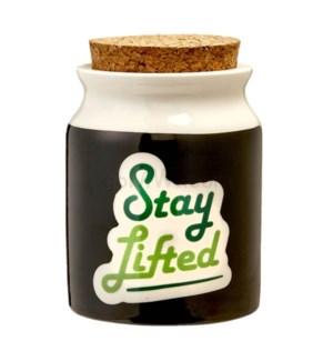 Fashioncraft 1 1/4 oz Ceramic Stash Jar - Lg Stay Lifted
