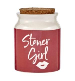 Fashioncraft 1 1/8 oz Ceramic Stash Jar - Stoner Girl Pink