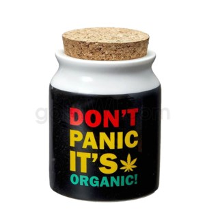 Fashioncraft 5/8oz Ceramic Stash Jar - Sm Don't Panic