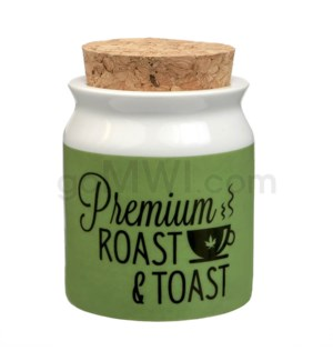 Fashioncraft 5/8oz Ceramic Stash Jar - Sm Prem Roast & Toast