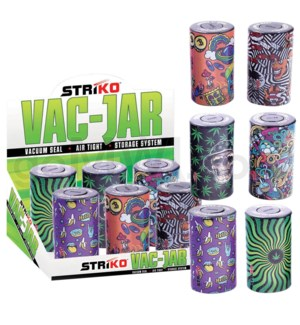 Striko Vac Jar 6CT Display - Leaf