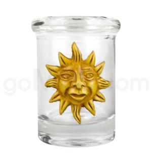 DISC Glass Jar Polyresin Clear - Sun