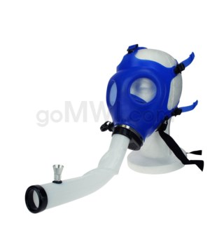 Gas Mask w/ Open End Curve Steamroller- Blue