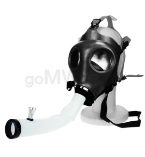 Gas Mask w/ Open End Curve Steamroller- Black