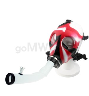 Gas Mask w/ Open End Curve Steamroller-Black Red & White