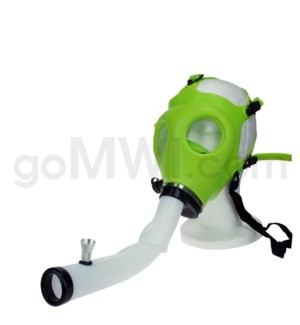 Gas Mask w/ Open End Curve Steamroller-Green