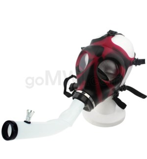 Gas Mask w/ Open End Curve Steamroller- Maroon & Black