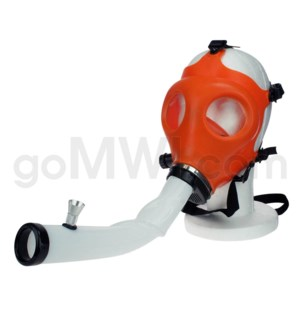 Gas Mask w/ Open End Curve Steamroller-Orange