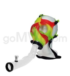 Gas Mask w/ Open End Curve Steamroller-Rasta