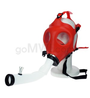 Gas Mask w/ Open End Curve Steamroller-Red