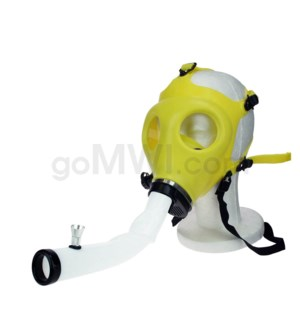 Gas Mask w/ Open End Curve Steamroller-Yellow