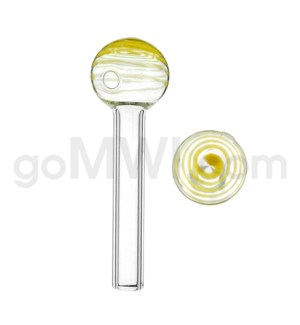 "Glass Oil Burner w/Swirl 4"" - Yellow (20bg/1000cs)"