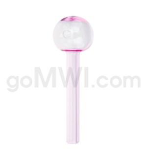 "Glass Oil Burner 6"" 20mm Thick Heavy Wall Jumbo Pink"