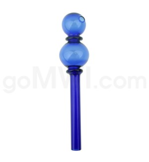 "Oil Burner 6"" Single Bubble w/ 2 Maria Rings-Blue"