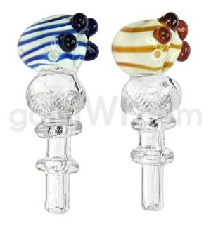 "O/S 4""-4.25"" C/T Two Tone spoon w/ ball & Maria Rings handle"