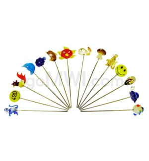 """5"""" Pipe Glass Pokers assorted"""