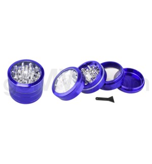 "DISC Grinder 2.2""- 4 pc CNC Purple w/ Clear Top & screen"