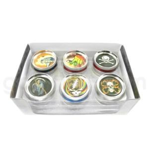 "DISC Grinder 2.5"" 3pc Metal Epoxy Emblem 12/10/120"