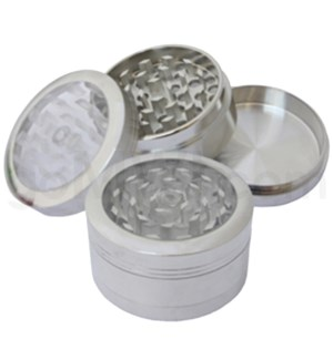 "DISC Grinder 3pc - 2.2"" w/ Glass Top"