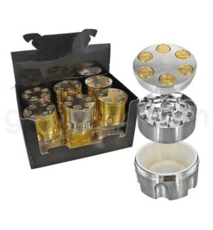 "Grinder 2"" CNC 3pc Metal Bullet Shaft w/ screen"