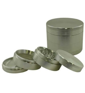"DISC Grinder CNC 4pc-2.5"" Silver w/screen"