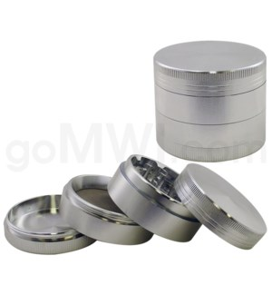 "DISC Grinder 2.25"" CNC 4pc Silver w/screen"