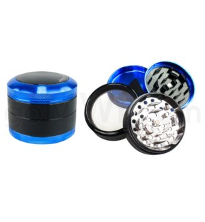 "Chromium Crusher Grinder 2.5"" CNC 4pc w/screen - Blue"