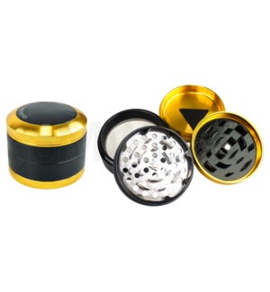 "Chromium Crusher Grinder 2.1"" CNC 4pc  w/screen - Gold"