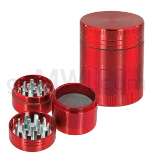 "DISC Grinder 4pc 1.5"" CNC Red"