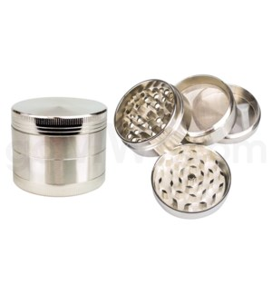 "Grinder 4pc 2.2"" CNC Silver"