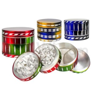 "DISC Grinder 2.75"" 4pc Diamond Cut Colors Mixed"
