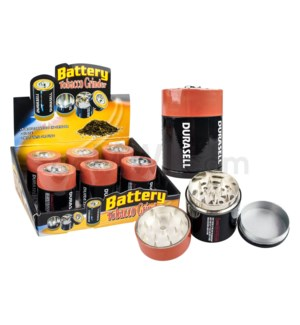 "Grinder 1.75"" 3pc Metal Battery  6PC/BX 6/20/120"