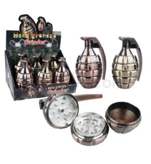 "Grinder 1.75"" 3pc Metal Hand Grenade 6PC/BX 6/16/96"