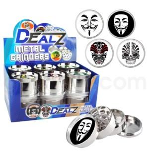 """Grinder: Dealz 2.25"""" 4pc Epoxy Zinc Asst B 12pc Mask"""