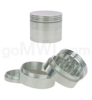 """Grinder 1.5"""" 42mm 4pc Metal Silver"""