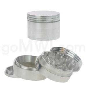 """Grinder 2"""" 52mm 4pc Metal Silver"""