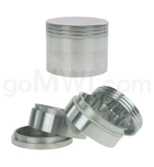 """Grinder 2.25"""" 57mm 4pc Metal Silver"""