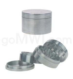 """Grinder 2.5"""" 63mm 4pc Metal Silver"""