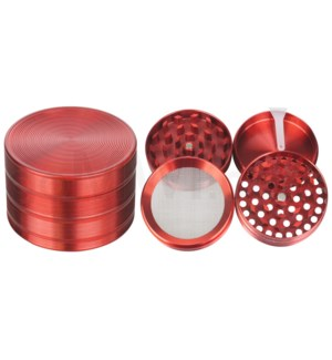 """Grinder 4pc 52mm 2.1"""" Red 12PC/BX"""