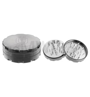"Uber Grinder 2 pc CNC 76mm 3"" Grey 10PC/BX"